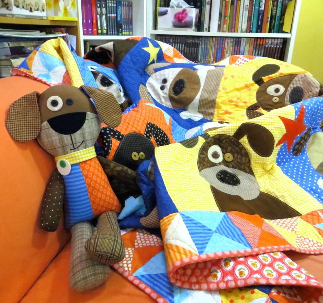 Hound Dogs Quilt & Soft Toy