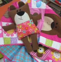 Snuggle Bear Quilt & Soft Toy