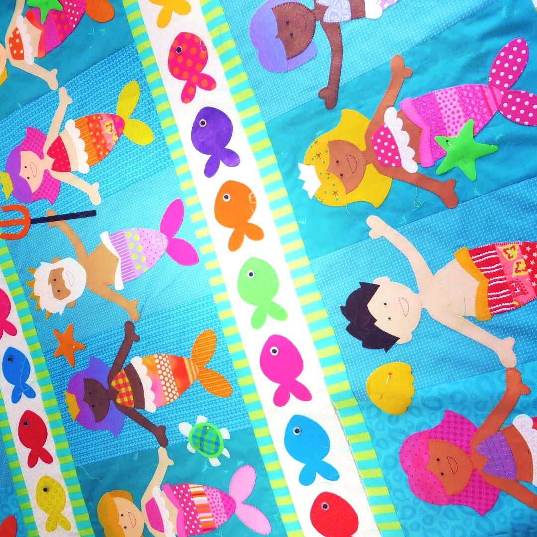 mermaid quilt new