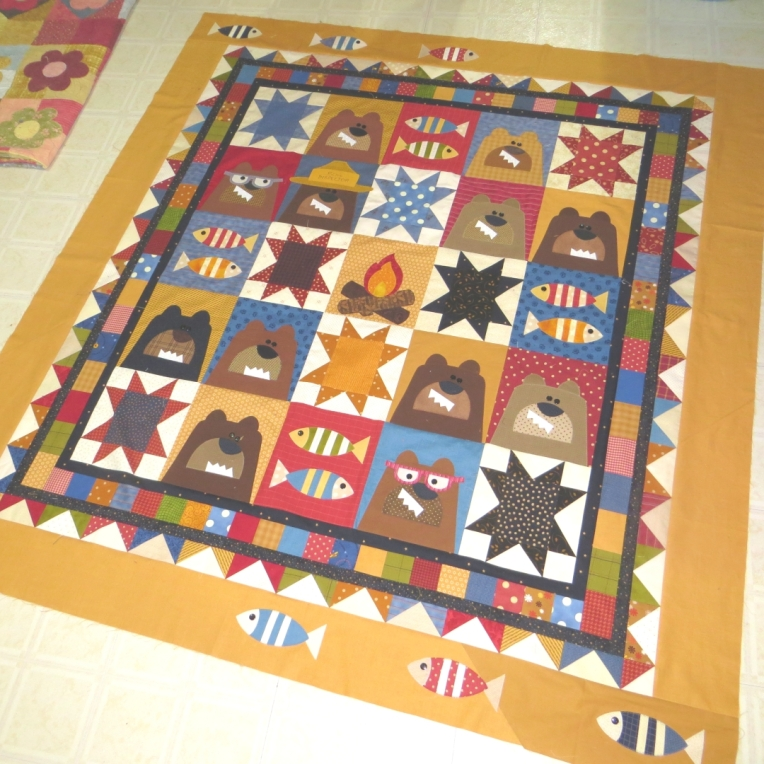 bear quilt finished