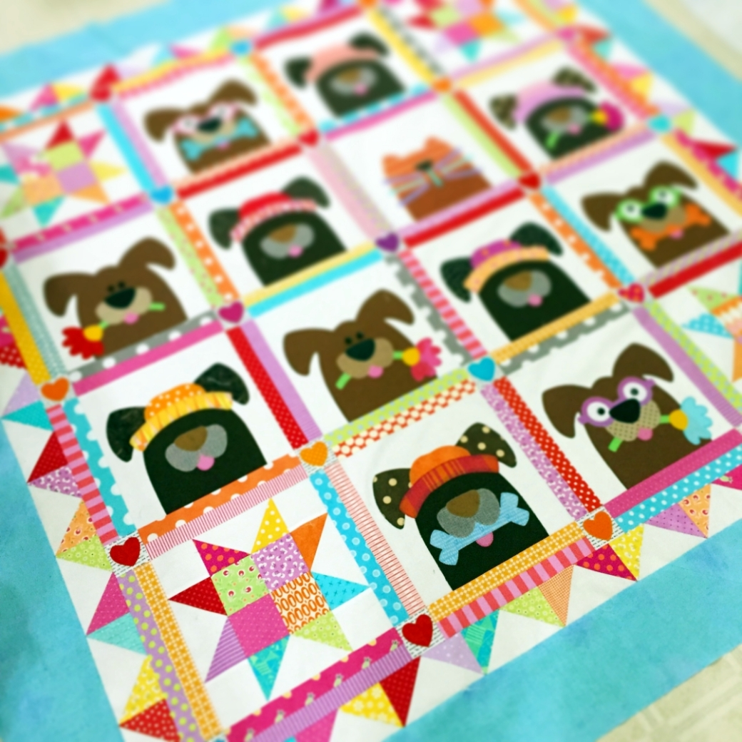dog quilt 1